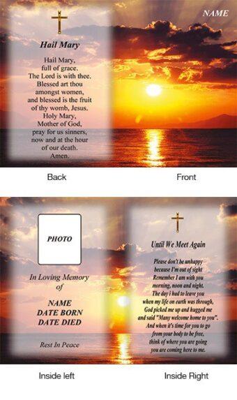 Memorial Card Style 2