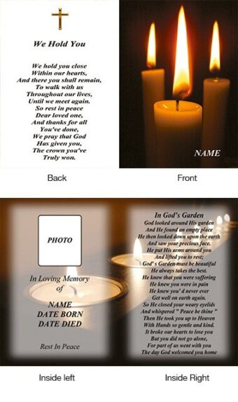 Memorial Card Style 4