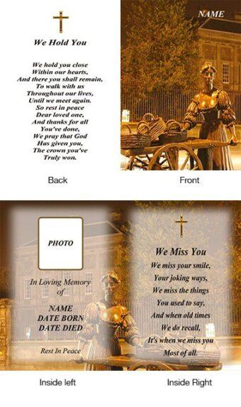 Memorial Card Style 18
