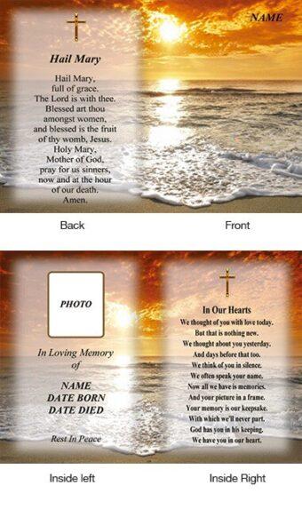 Memorial Card Style 32