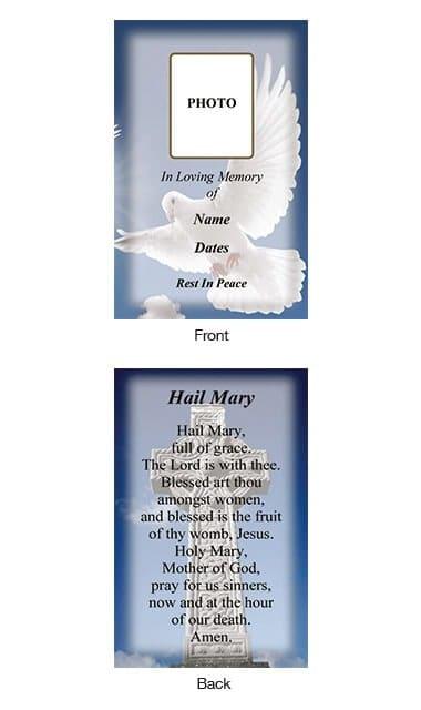 Memorial Wallet Card Style 13