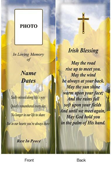 Memorial Bookmark 10