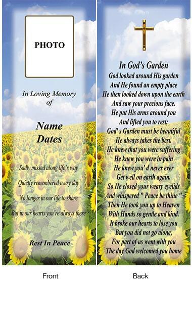 Memorial Bookmark 19