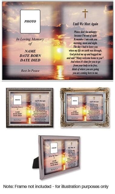 10 x 8 Memorial Photo Print Style 2