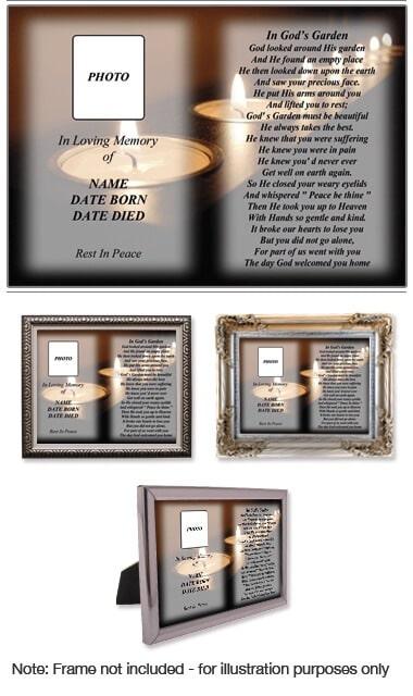10 x 8 Memorial Photo Print Style 4