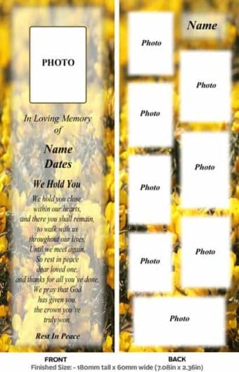 Large Memorial Bookmark-Style 01