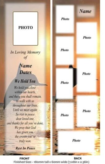 Large Memorial Bookmark-Style 2