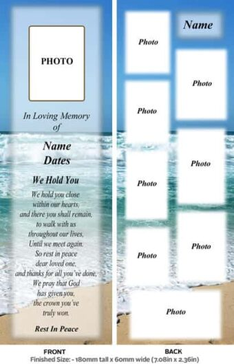 Large Memorial Bookmark-Style 3