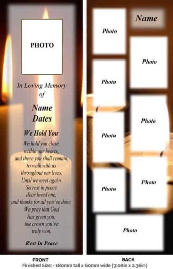 Large Memorial Bookmark-Style 5