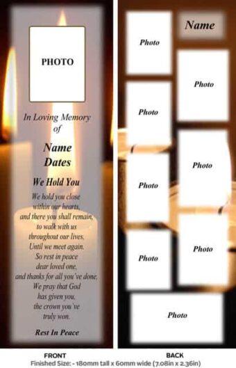 Large Memorial Bookmark-Style 5