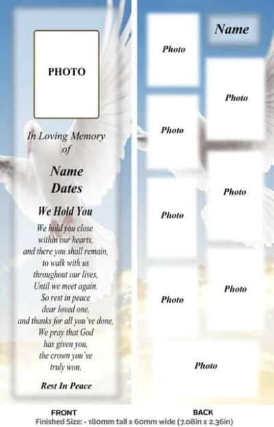 Large Memorial Bookmark-Style 7