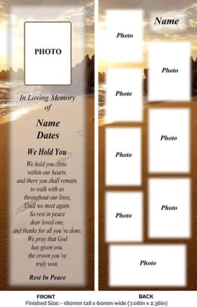Large Memorial Bookmark-Style 9