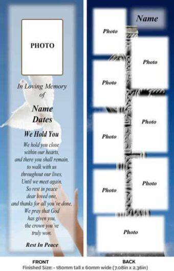 Large Memorial Bookmark-Style 12