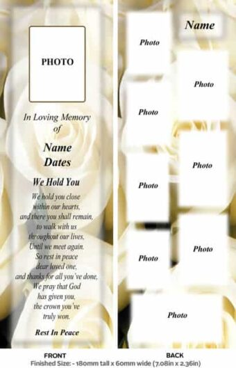 Large Memorial Bookmark-Style 14