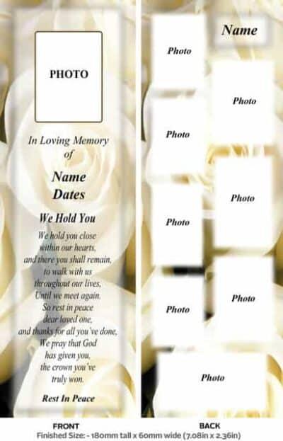 Large Memorial Bookmark-Style 14