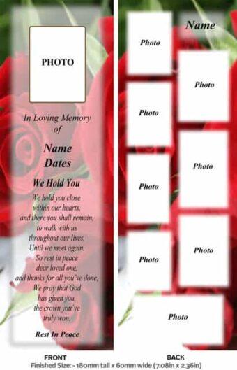 Large Memorial Bookmark-Style 15
