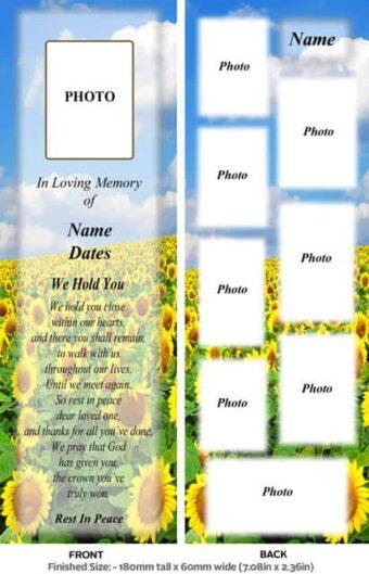 Large Memorial Bookmark-Style 16