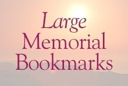 Large Memorial Bookmarks