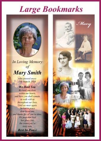 Large Memorial Bookmarks
