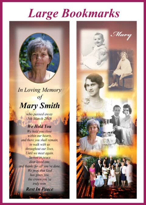 Large Memorial Bookmarks Category Image
