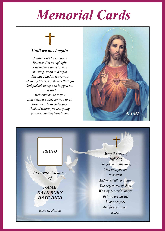 Memorial Cards Category Image