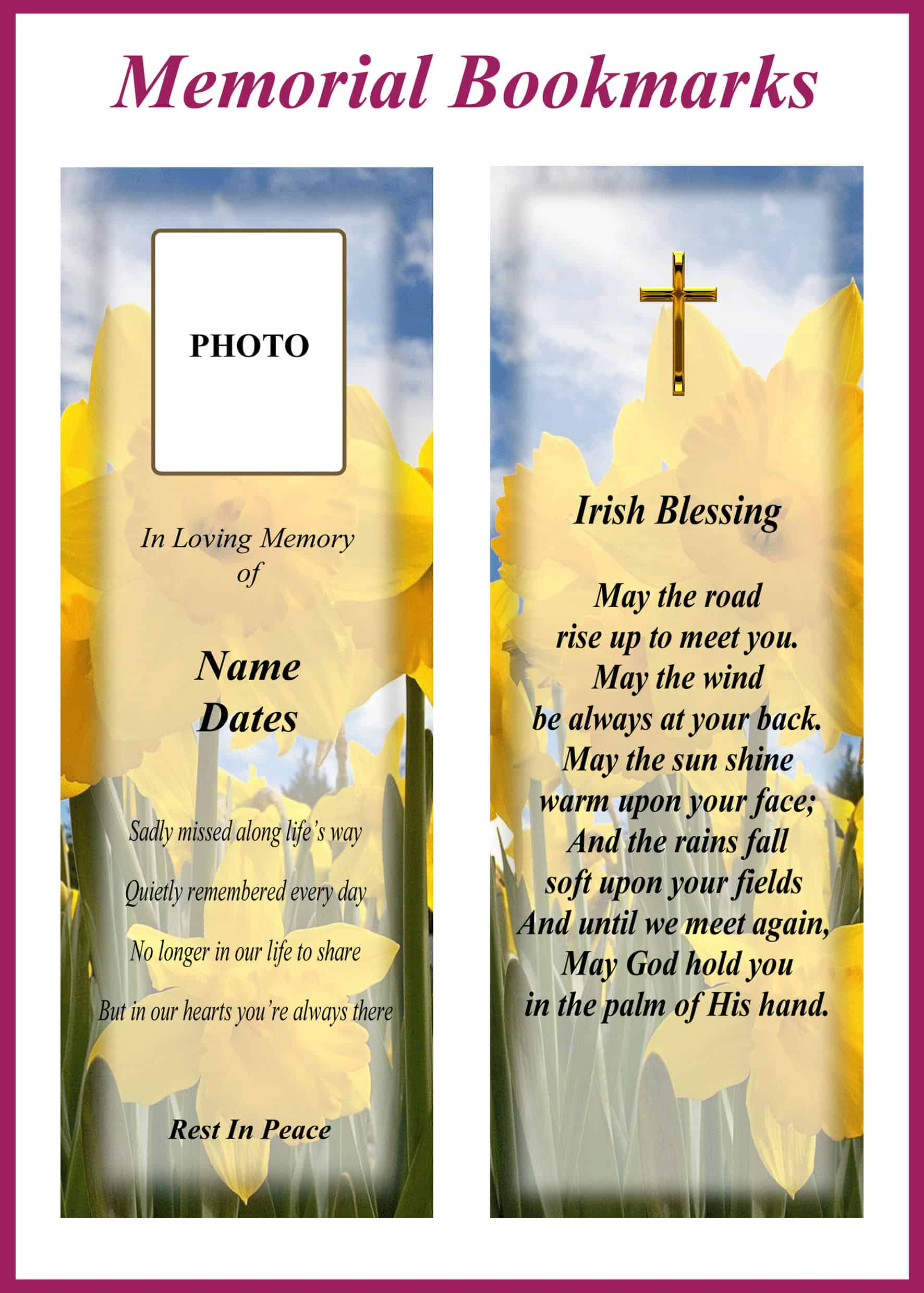 Memorial Bookmarks Category Image