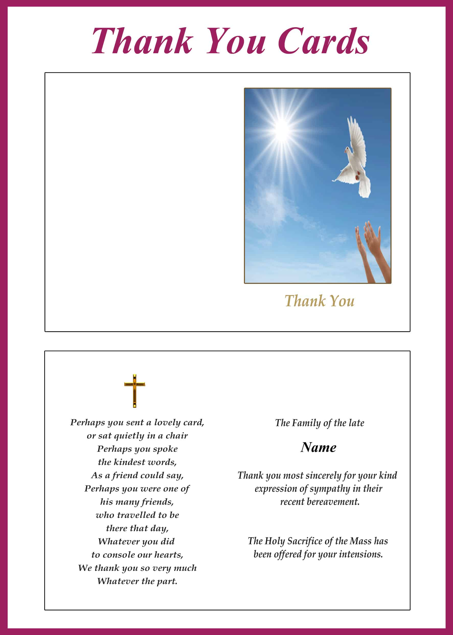Memorial Thank You Cards Category Image