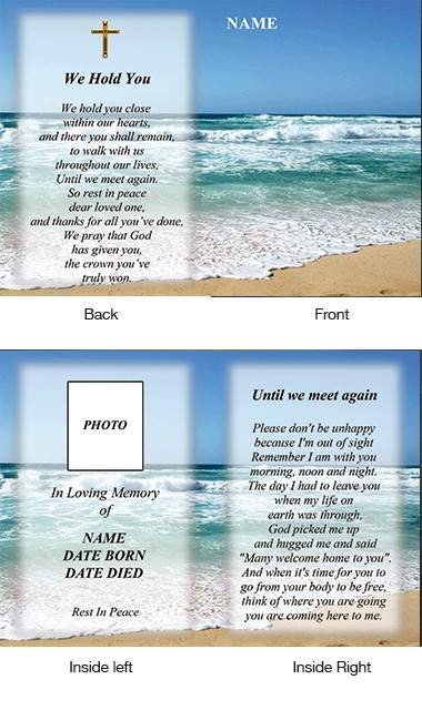 Memorial Card Style 34