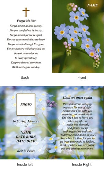 Memorial Card Style 35