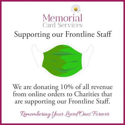 Memorial Card Service Corona Virus Charity Contribution
